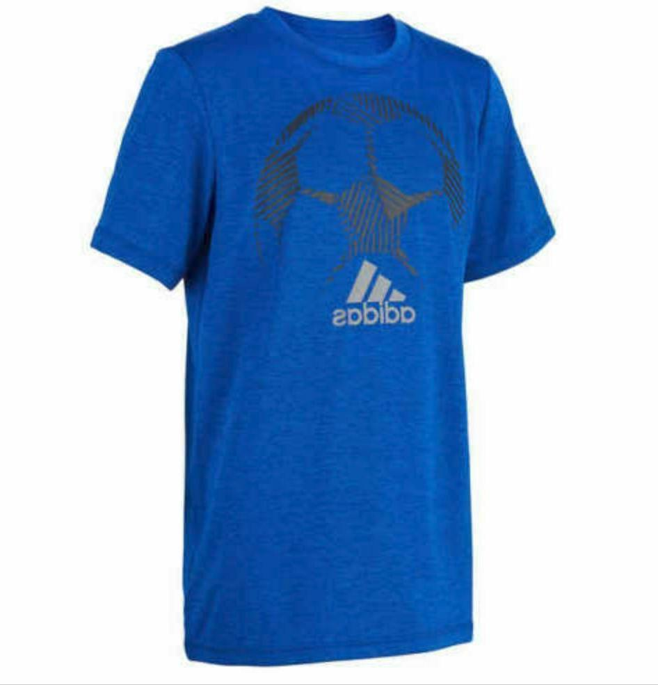 Adidas Youth Short Sleeves Climalite TShirt Red, Blue, Black