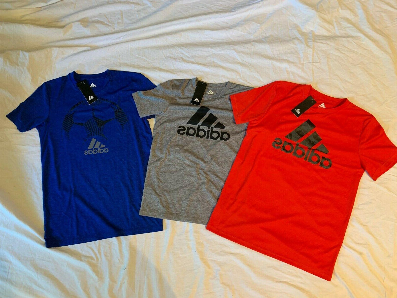 Adidas Youth Short Sleeves Climalite TShirt Blue, Black Color Deal {&}
