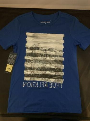 True Religion T-shirt Royal Blue Stripe Tee