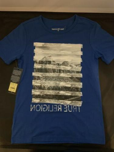 youth t shirt royal blue stripe tee