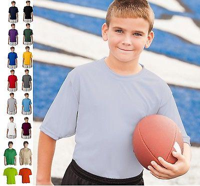 youth unisex cooling performance crew athletic t