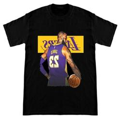 Lebron James T-Shirt LBJ Los Angeles Lakers Fan Adult KIDS