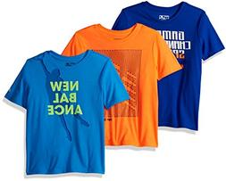 New Balance Little Boys' 3 Pack Graphic Tee, Royal/Bolt/Dyno