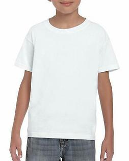Gildan Kids' Big Heavy Cotton Youth T-Shirt, White, Large