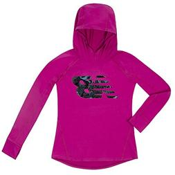New Balance Kids Big Girls' Hooded Performance Tee, Poisonbe