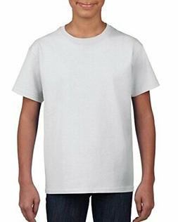 Gildan Kids' Big Ultra Cotton Youth T-Shirt, 2-Pack, White,