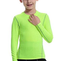 LANBAOSI Boys&Girls Long Sleeve Compression Soccer Practice