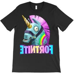 loot unicorn llama t shirt fornite black