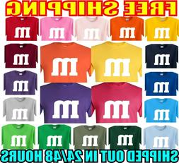 m & m HALLOWEEN costume t shirt m and m