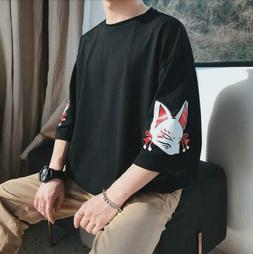 Mens Youth 2019 Casual Loose T-shirt Trend Hip-hop Shirt Wil