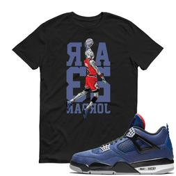 Michael Jordan Air Jordan 4 Winter Loyal Blue T Shirt Adult