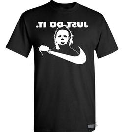 Michael Myers T-Shirt Just Do It Halloween Funny Nike Parody