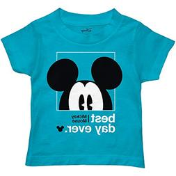Disney Mickey Mouse Best Day Ever Toddler Youth Juvy Kids T-