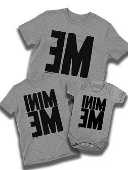 Mini Me Matching Mens Family T-Shirt Dad Boys Girls Baby