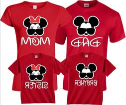 Mom And Dad Mickey Minnie Glasses Disney Vacation matching F