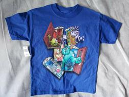 Disney Monsters Inc T Shirt Youth Size Extra Small XS Blue T