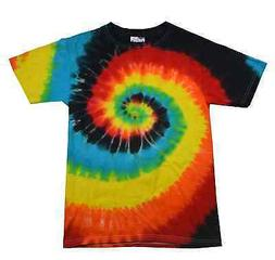Multi-Color Eclipse, Tie Dye T-Shirts, Youth XS 2-4  to Yout
