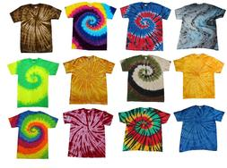 Multi-Color Tie Dye T-Shirts Kids & Adult Gildan Cotton 100%