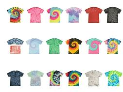 Multi-Color Tie Dye T-Shirts  Kids & Adult 100% Pre-Shrunk C