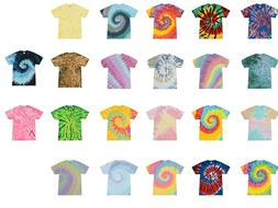 Multi-Color Tie Dye T-Shirts Kids & Adult 100% Cotton Colort