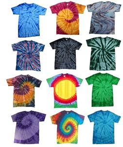 Multi-Color Tie Dye T-Shirts  Kids & Adult Hand dyed Cotton
