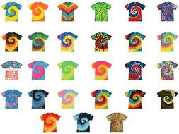 Multi-Color Tie Dye T-Shirts, Youth XS, S, M, L, Cotton, Sho