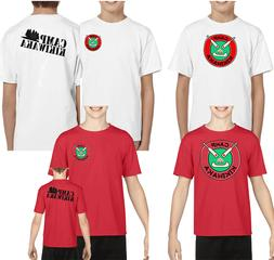 New kikiwaka camp bunk d youth red tshirt kid one/two side c