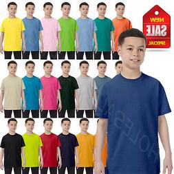 NEW Hanes Youth 100% Cotton Heavy Tagless T-Shirt M-54500