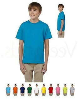 NEW Fruit of the Loom Youth 5 oz 100% Heavy Cotton HD T-Shir