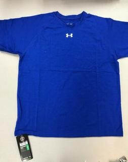 NEW Youth BLUE Large Under Armour T-shirt Loose Gear Boys YL