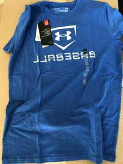New Under Armour Youth Boys baseball icon t-shirt Sz: Large