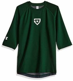 NWT Under Armour Boys Heater 3/4 Sleeve T-Shirt Size Youth L