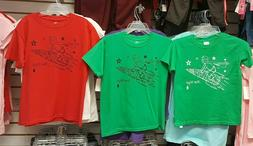 NWT Boys/Mens Green/Red Tees Short Sleeve Graphic Youth T-Sh