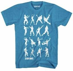 NWT FORTNITE OFFICIALLY LICENSED YOUTH BLUE DANCE MOVES T-SH