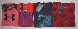 NWT UNDER ARMOUR YOUTH BOYS'  HEAT GEAR LOOSE FIT SHORT SLEE