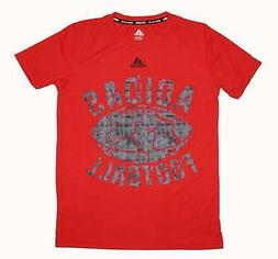 NWT Youth Adidas Climalite Football Crumble Short Sleeve T-S