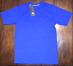 ADIDAS NWT! YOUTH CLIMALITE Tshirt Ultimate S/S Tee Blue Kid