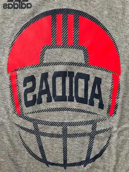 NWT Youth Adidas FOOTBALL HELMET Grey/Navy S/S Tee Shirt AA5