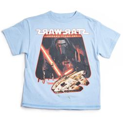 NWT STAR WARS YOUTH TSHIRT AGE 8-20 THE CHASE LIGHT BLUE