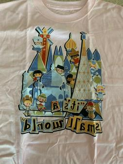 Disney NWT Youth XL ITS A SMALL WORLD T-shirt Pink NEW Disne