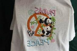 panda peace sign funny t-shirt tee graphic novelty kids yout