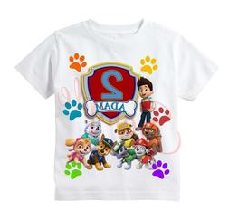 Paw Patrol BADGE Custom T-shirt Personalize tshirt Birthday