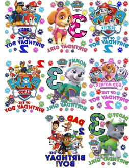 paw patrol shirt custom birthday shirts personalized