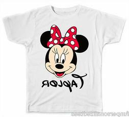 Personalized Disney Minnie Mouse Face T-Shirt