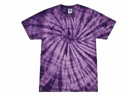 Purple, Tie Dye T-Shirts, Kids XS 2-4, S 6-8, M 10-12, L 14-