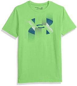 Under Armour Boys' Rapid Logo T-Shirt, Mantis /Moroccan Blue