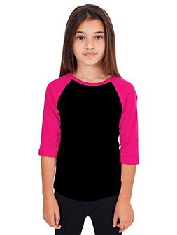 Hat and Beyond RD Kids 3/4 Raglan Sleeves T Shirt Child Yout