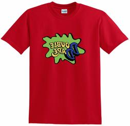 red double dare logo nickelodeon costume t