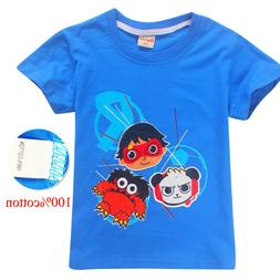 Ryan Toys Review Kid's boys girls Youth Short sleeve Tops T-
