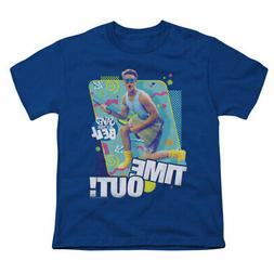 Saved By The Bell Men's  Time Out T-shirt Blue Rockabilia